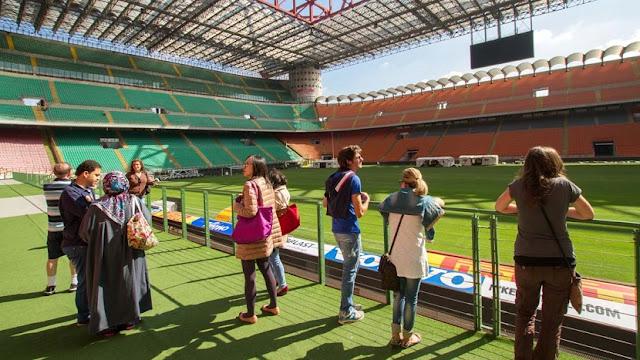 Tour pelo estádio San Siro em Milão