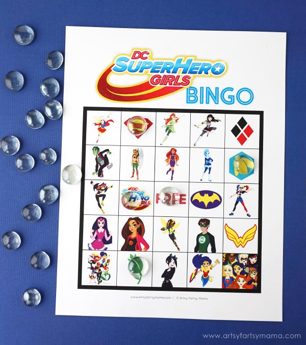 free printable dc super hero girls bingo artsy fartsy mama
