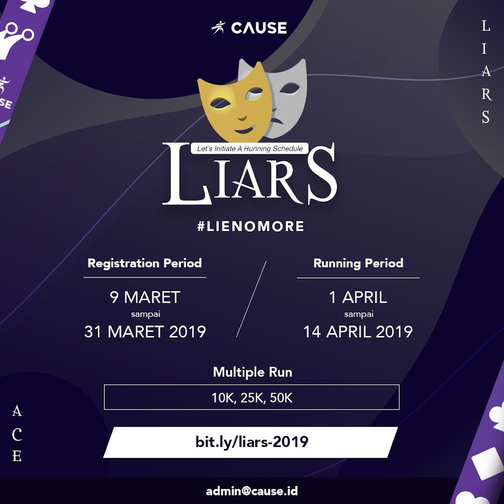 LIARS Let's Initiate A Running Schedule 2019