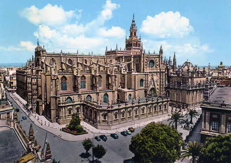 Patrimonio catedral de sevilla alzado interior y exterior for Exterior catedral de sevilla