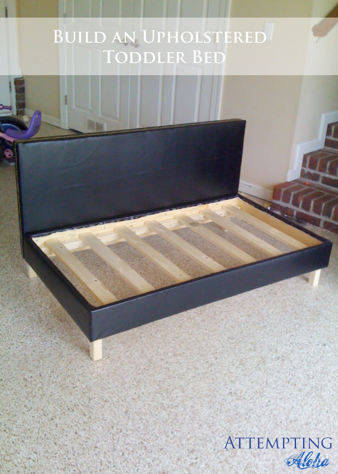 Attempting Aloha Diy Upholstered Toddler Bed Couch Plan Build Wooden Twin Frame