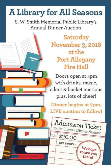 11-3 S. W. Smith Library's Annual Dinner Auction