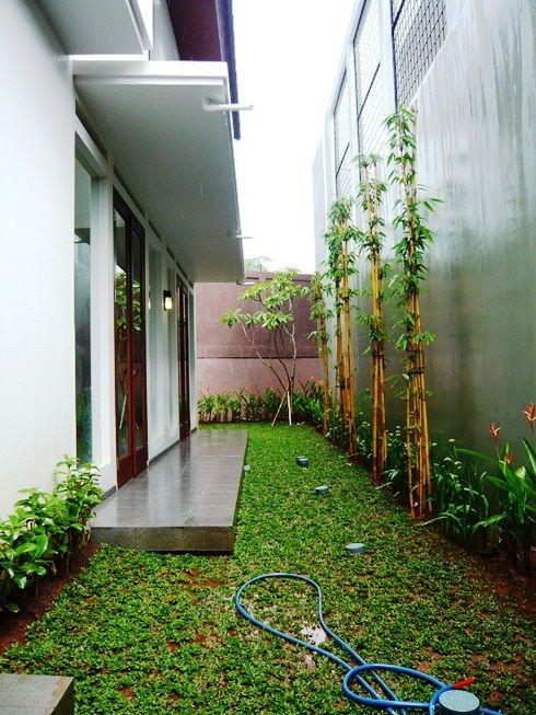 Hasil gambar untuk desain taman minimalis samping rumah