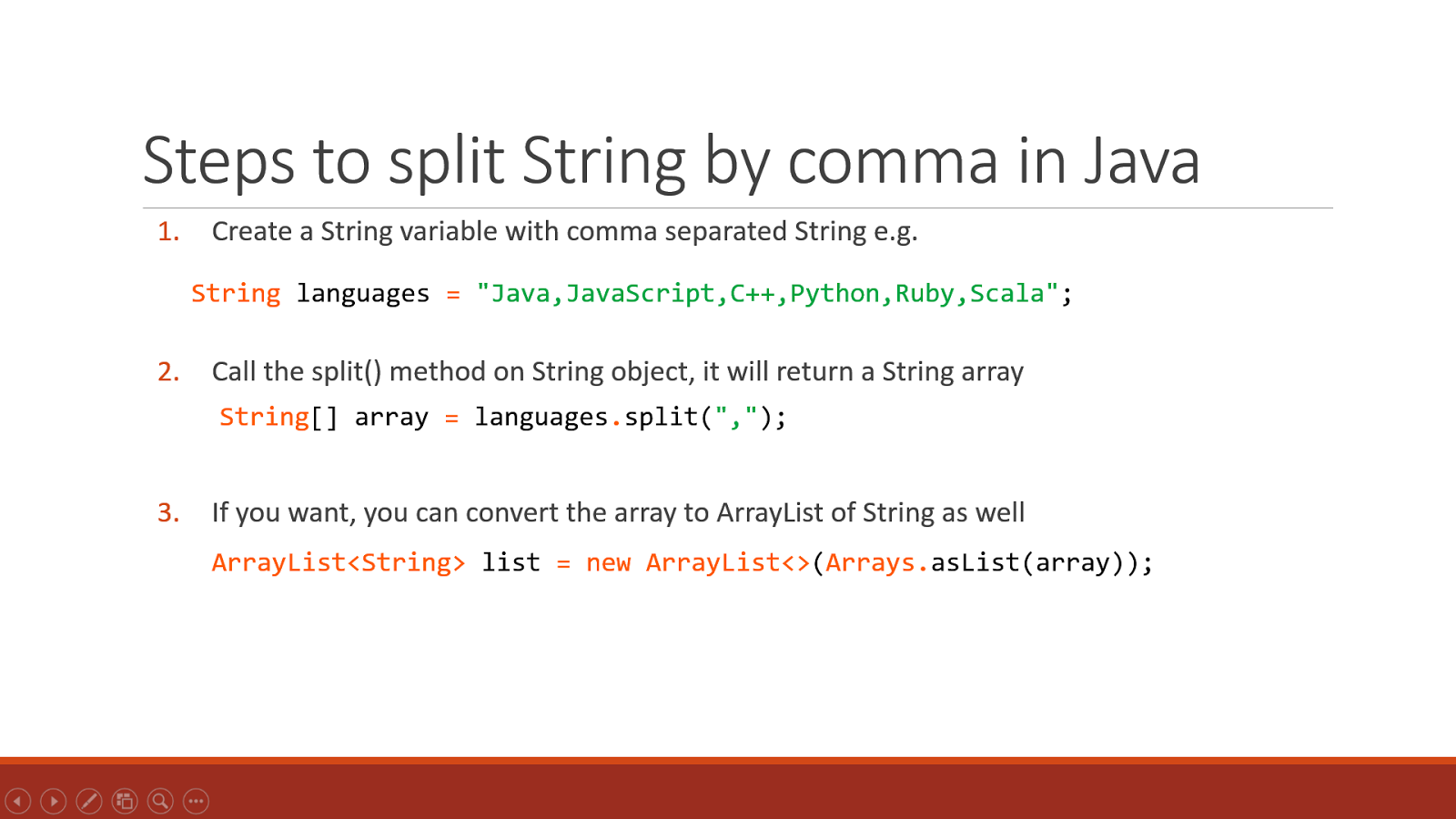 How to split String by comma in Java - Example Tutorial | Java67