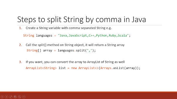 How to split a String by comma in Java with example