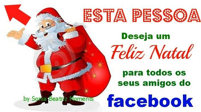 Feliz Natal para amigos do Facebook