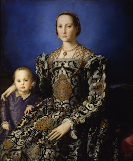 Bronzino's portrait of Eleonora of Toledo, wife  of Cosimo I de' Medici, with her son, Giovanni