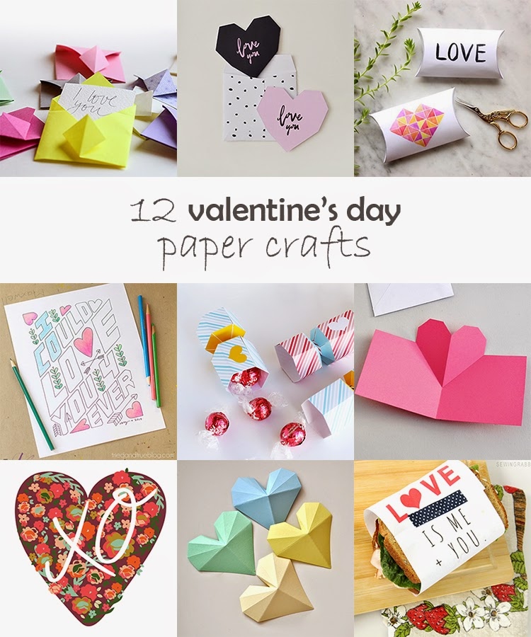 Diy Monday Valentine S Day Paper Crafts Ohoh Blog