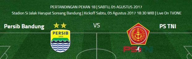 Prediksi Persib Bandung vs PS TNI - Jadwal Liga 1 Sabtu 5 Agustus 2017