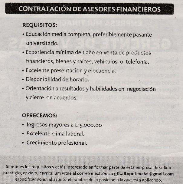 Bolsa De Empleo Honduras Bolsa De Trabajo Ofertas De