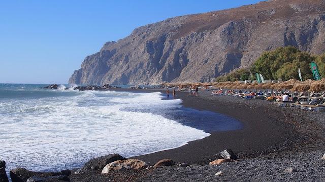Praias românticas em Santorini