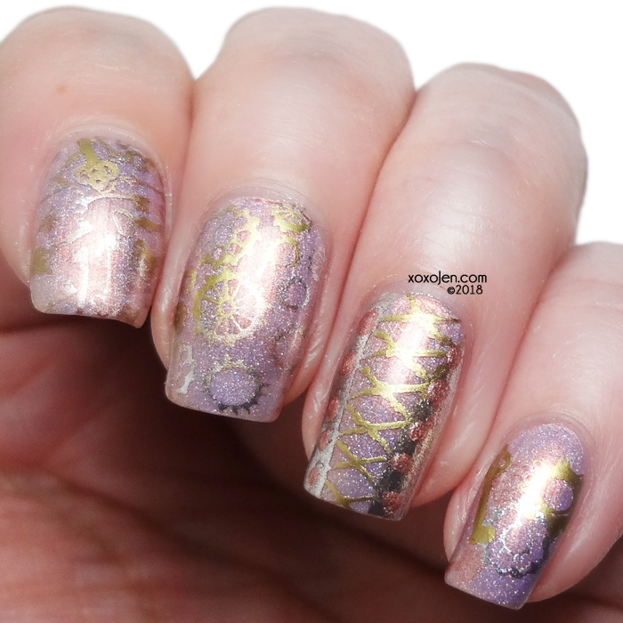 xoxoJen's swatch of Rogue Lacquer Nail art