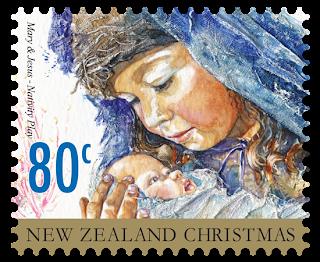Nueva Zelanda - Navidad 2014 - Valor 80 centavos de NZD - Autoadhesivo