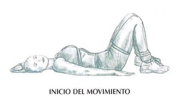 Ejecución de las elevaciones de pelvis en el suelo, ejercicio para glúteos. | Rane Forti