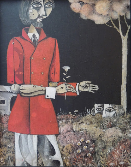 Eduard Alcoy hombre con flor pintura surrealista catalana
