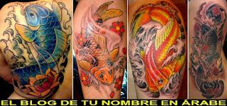 Carpas koi tatuajes