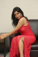 Sakshi Kakkar in Red Legsplit Sleeveless Gown at Dare movie Press meet ~  Exclusive 055.JPG