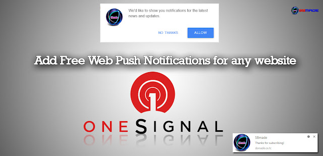 Add Free Web Push Notifications for any website