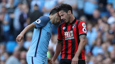 Nolito Red Card against Bournemouth for violent conduct