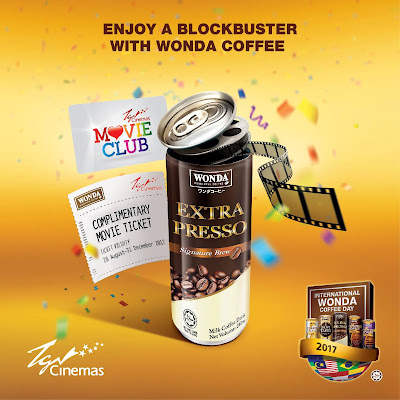 Wonda Coffee Free TGV Movie Ticket