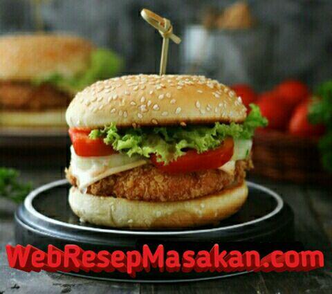 Chicken Burger KFC, Chicken burger ncc, Resep Chicken Burger KFC,