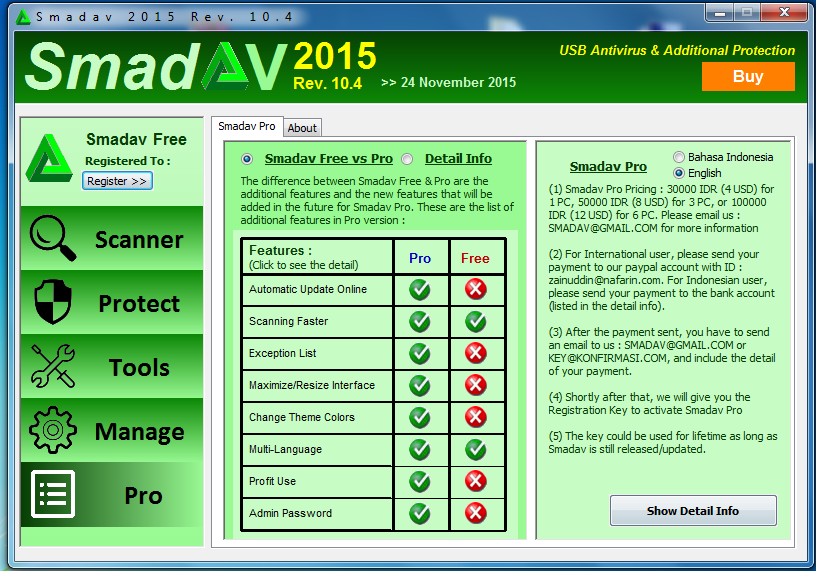 uninstall antivirus smadav