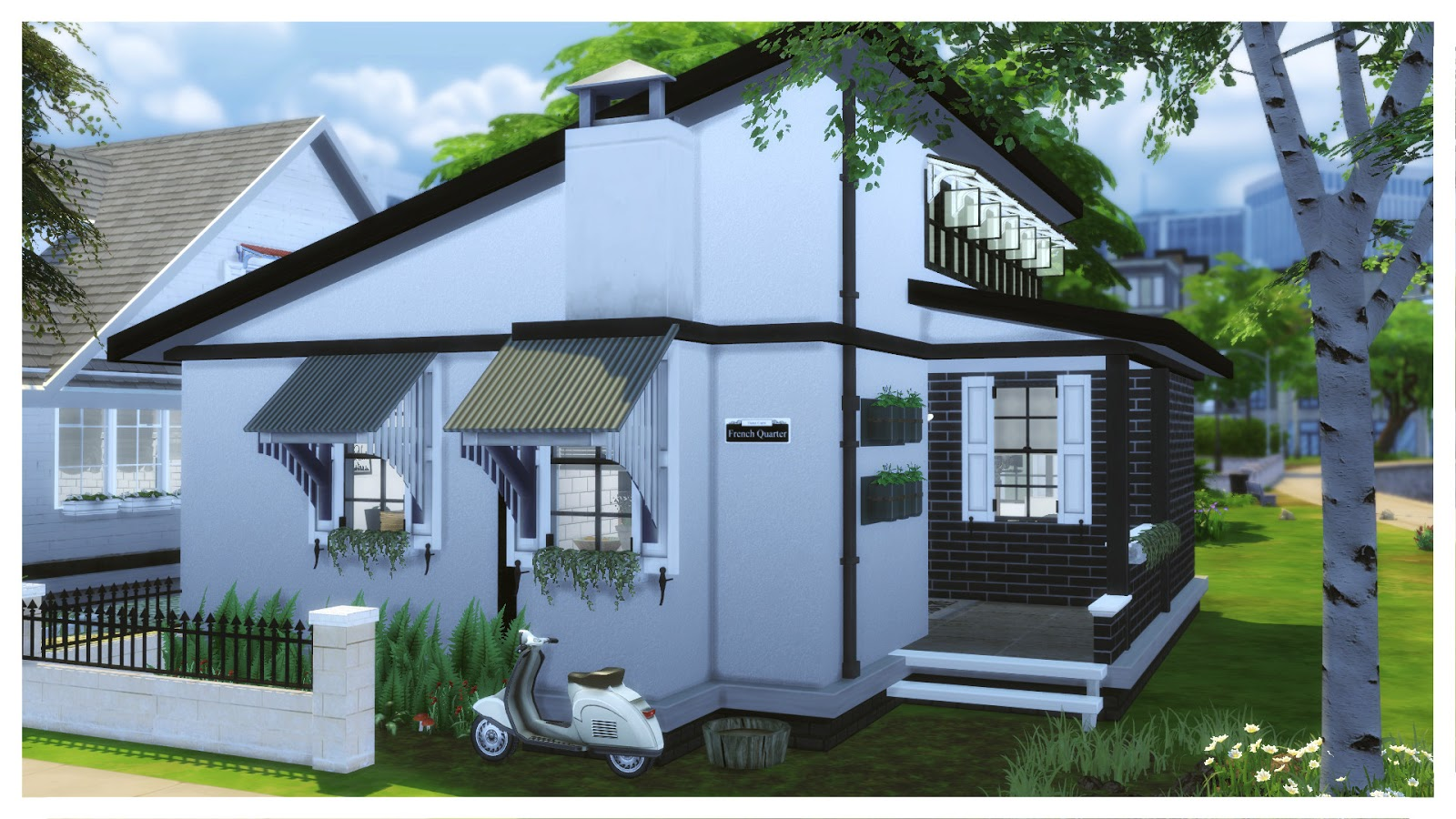 Sims 4 Small Black White House House Mods For