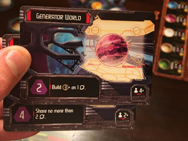 Mission cards in Horizons board game from Daily Magic Games; photo by Benjamin kocher
