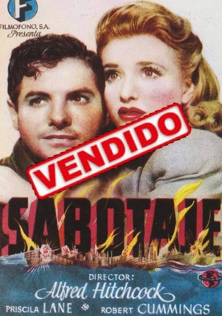 Programa de Cine - Sabotaje - Priscilla Lane - Robert Cummings