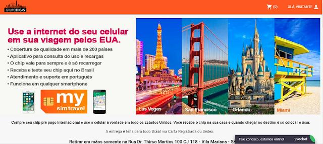 Site para comprar o melhor chip para usar o celular à vontade em San Francisco