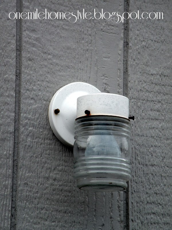Outdoor Light Fixture - Before