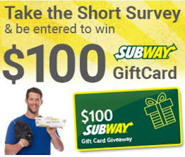 $ 100 Subway GiftCard