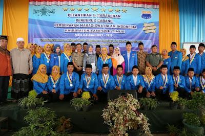 Pengurus Cabang PMII Lampung Timur Dilantik