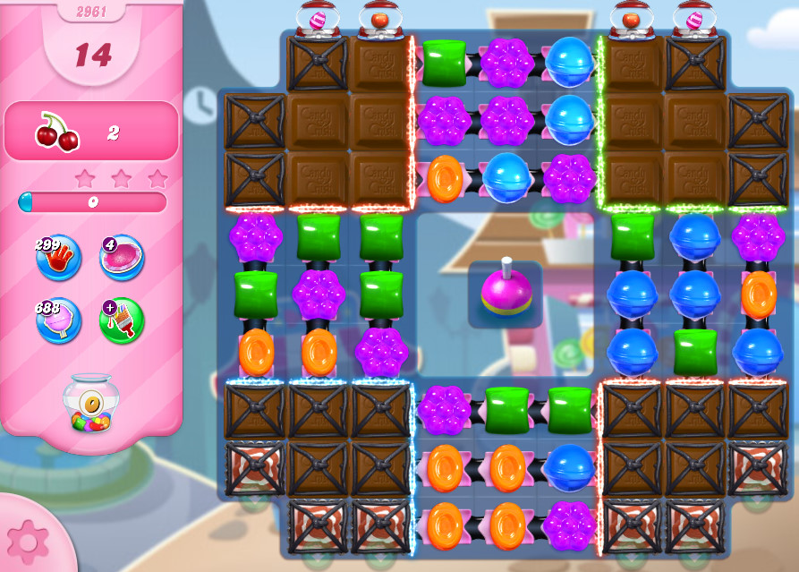 Candy Crush Saga level 2961
