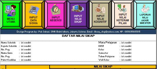 Download Aplikasi Penilaian Kurikulum 2013 SD, SMP, SMA