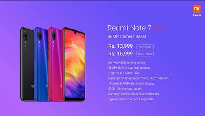 Redmi Note 7 Pro Phone Price