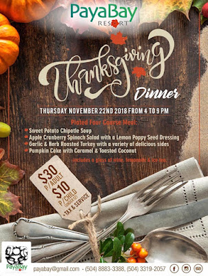 thanksgiving, dinner, paya bay resort, special events, #payabay, #payabayresort, #loveroatan, #visitroatan, #supportroatan,