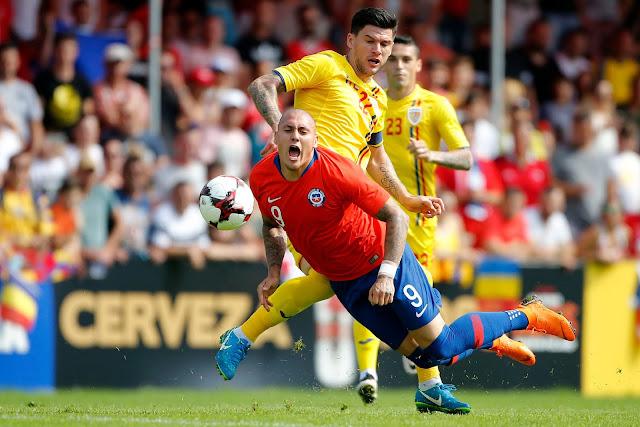 Rumania y Chile en partido amistoso, 31 de mayo de 2018