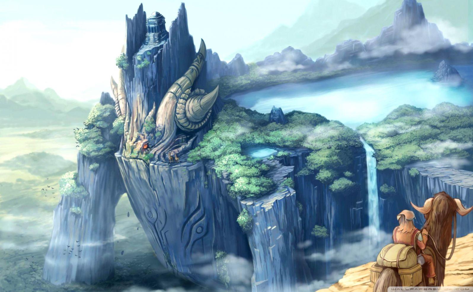 Dreamy Fantasy Castles Dragons Wallpaper Carik Wallpapers