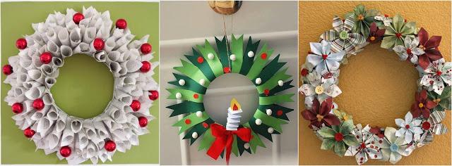 coronas-navideñas-papel