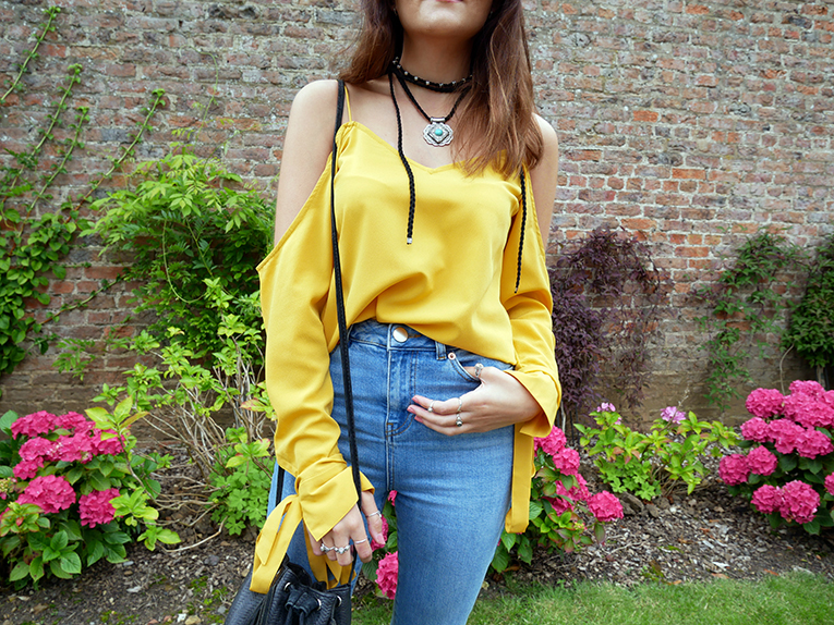 Crop flare jeans UK fashion blogger