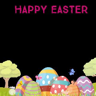 2/5 Designs of Easter eggs Facebook Frames Free Download