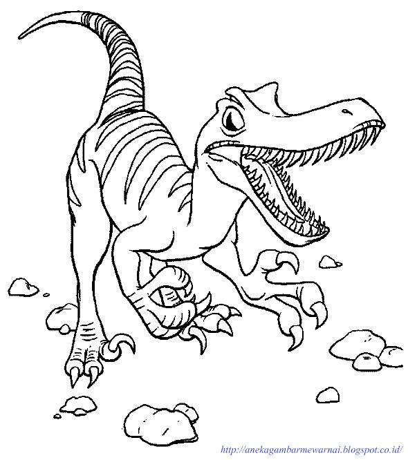 Gambar Dinosaurus Untuk Mewarnai Anak Tk