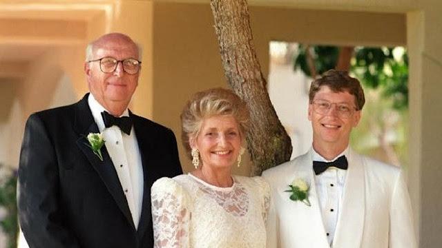 Bill Gates dengan sang Ibunda