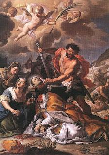 Martyrdom of Saint Januarius, Girolamo Pesce, 1727.
