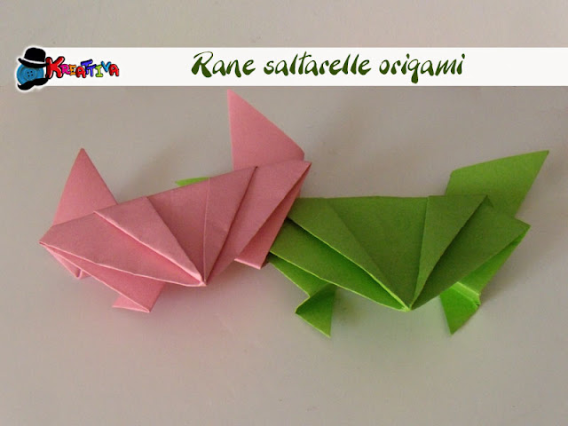 rana origami che salta