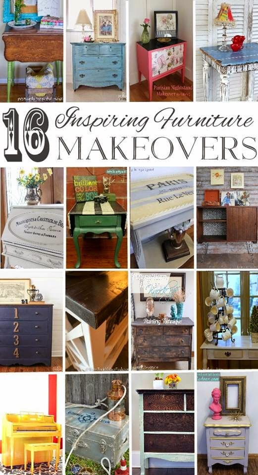 16 Inspiring Furniture Makeovers by some extremely talented furniture painters.