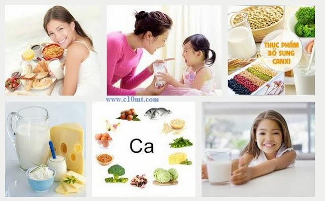Nhu cầu bổ sung canxi từ thực phẩm tự nhiên www.c10mt.com