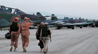 Russian Humeimim Airbase in Southwest Lattakia