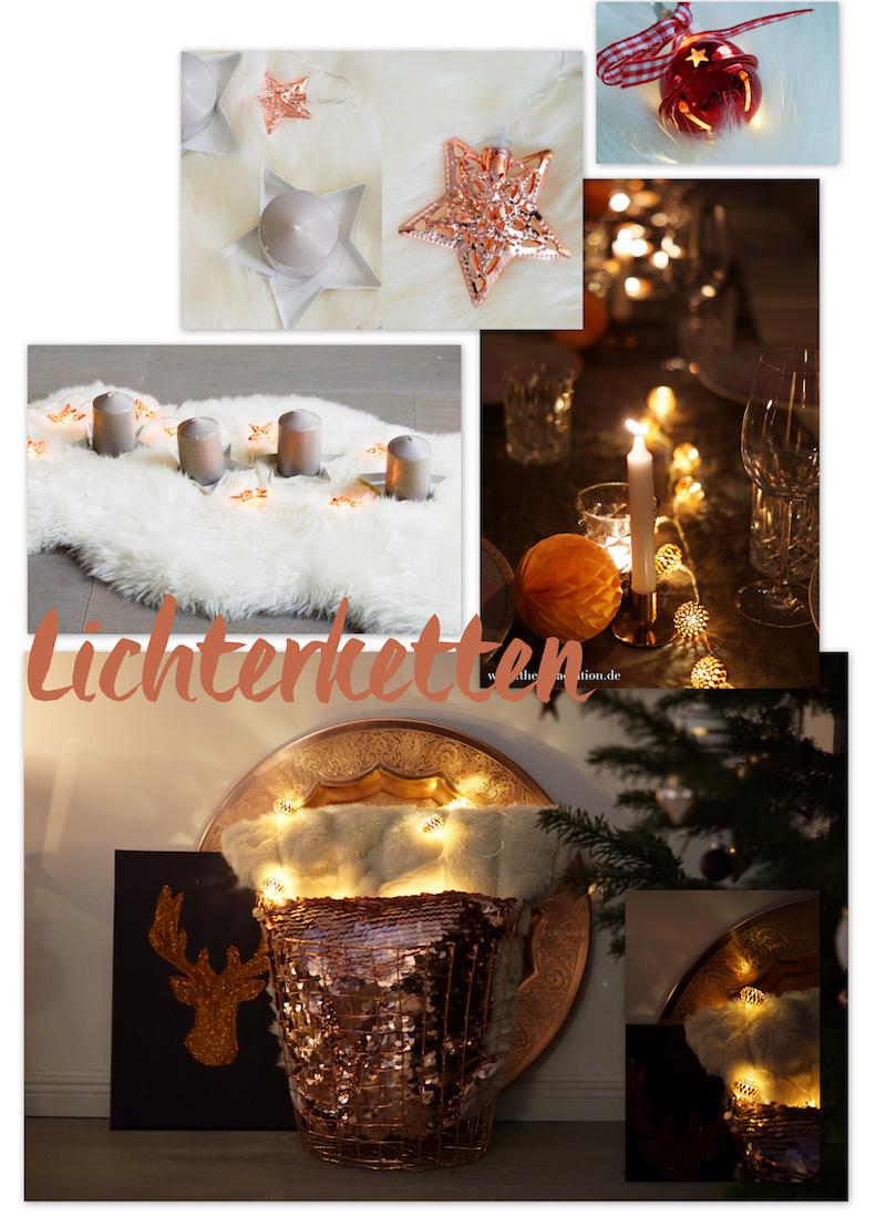 Weihnachtsdekorationsinspirationen mit Lichterketten
